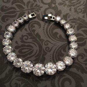 CZ Tennis Bracelet- Sterling Silver